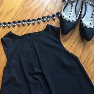 Forever 21 black tank blouse